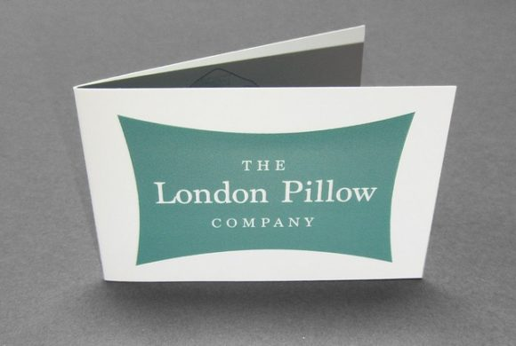 The London Pillow Company Folded Business Card